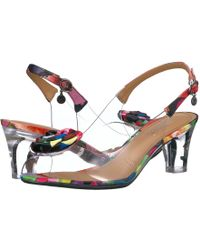 d9339cb7ba3 Lyst - J. Reneé Dailona Vinyl And Floral Print Sling Pumps