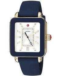 Michele - Deco Sport Navy Silicone Watch (navy) Watches - Lyst