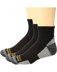 Timberland - Poly Ankle (black) Men's Crew Cut Socks Shoes - Lyst