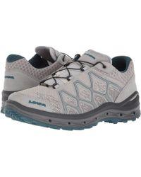 Lowa - Aerox Gtx Lo Surround (light Gray/petrol) Women's Shoes - Lyst