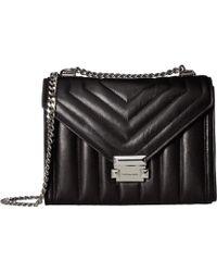 MICHAEL Michael Kors - Whitney Large Shoulder (black) Shoulder Handbags - Lyst