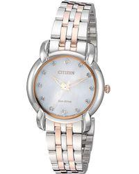 Citizen - Em0716-58a Jolie (two-tone) Watches - Lyst