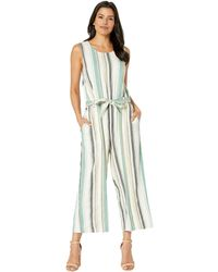 269b035d1b72 Two By Vince Camuto - Sleeveless Multi Stripe Belted Culotte Jumpsuit  (pearl Ivory) Women s