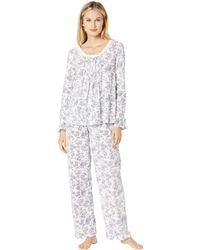 Carole Hochman - Long Sleeve Pajama Set (navy Toile Floral) Women s Pajama  Sets - 036ca90c8