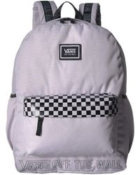 2f96a55335f Vans - Sporty Realm Plus Backpack (black face Off) Backpack Bags - Lyst