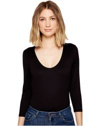 Only Hearts - Delicious 3/4 Sleeve V-neck Bodysuit (black) Women's Jumpsuit & Rompers One Piece - Lyst