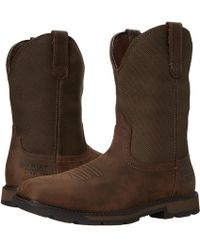Ariat - Groundbreaker Wide Square Toe H20 St (palm Brown/ballistic Brown) Cowboy Boots - Lyst