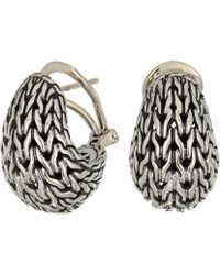 John Hardy - Classic Chain Graduated Buddha Belly Earrings (silver) Earring - Lyst