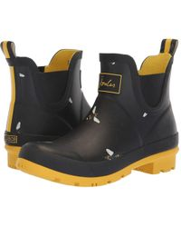Joules - Wellibob Chelsea Boot (black Botanical Bees) Women's Boots - Lyst