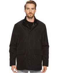 Cole Haan - 32 3-in-1 Coat With Contrast Color Liner, Corduroy Collar And Knit Trim Details (black) Men's Coat - Lyst