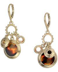 Lauren by Ralph Lauren - Rose Shaky Charm Drop Earrings (gold) Earring - Lyst