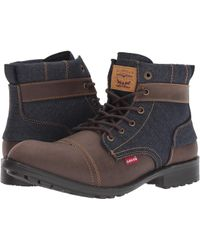 Levi's - Levi's(r) Shoes Artesia Denim Ul (brown/navy) Men's Lace-up Boots - Lyst