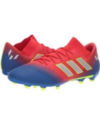 on sale 549cb 5ab14 adidas - Nemeziz Messi 18.3 Fg (active Red silver Metallic football Blue)