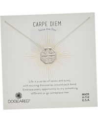 Dogeared - Carpe Diem, Slide Through Compass Necklace (gold) Necklace - Lyst