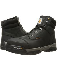 Carhartt - 6 Ground Force Waterproof Composite Toe Work Boot (black Oil Tanned Leather) Men's Work Lace-up Boots - Lyst