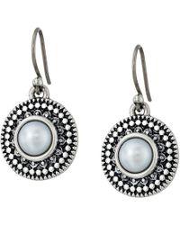 Lucky Brand - Pearl Small Drop Earrings (silver) Earring - Lyst