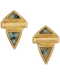 House of Harlow 1960 - Pyramid Stone Small Earrings - Lyst