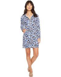 Lilly Pulitzer - Upf 50+ Skipper Dress (beckon Blue Oh My Cod) Women's Dress - Lyst