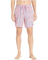 201e4b5583 Vineyard Vines - Island Palms Chappy Swim Trunks (washed Neon Pink) Men's  Swimwear -