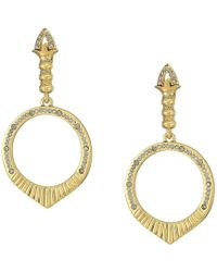 House of Harlow 1960 - Luna Stone Earrings (gold) Earring - Lyst