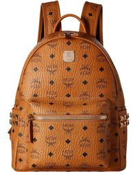 MCM - Stark Side Stud Small Backpack (cognac) Backpack Bags - Lyst