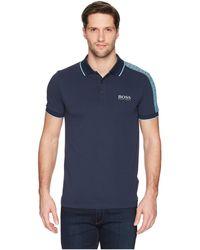 BOSS Green - Paule Pro 10143643 0 (navy) Men's Short Sleeve Knit - Lyst