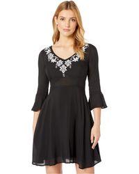 Stetson 8175 Solid Black Rayon Swing Dress