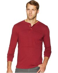 Vintage 1946 - Garment Dyed Slub Henley (biking Red) Men's Clothing - Lyst