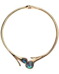Robert Lee Morris - Abalone Stone Sculptural Hinged Collar Necklace (abalone) Necklace - Lyst