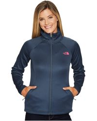 61a870306 Lyst - The North Face Agave Full Zip Jacket in Blue