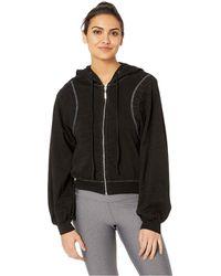 Hard Tail - Reverse Angle Stripe Puff Sleeve Jacket (black) Women's Clothing - Lyst