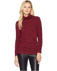 NIC+ZOE - Scrunched Up Turtleneck Top - Lyst