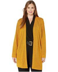 MICHAEL Michael Kors Plus Size Open Cardigan - Yellow