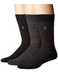 Polo Ralph Lauren - Supersoft Diamond Dot 3-pack (navy) Men's Crew Cut Socks Shoes - Lyst