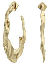 Alexis Bittar - Crumpled Hoop Earrings (10k Gold) Earring - Lyst