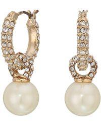 Lauren by Ralph Lauren - 11 Mm Drop Earrings (white) Earring - Lyst
