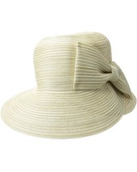 497d5701 San Diego Hat Company Mxm1016 Sun Brim Hat With Self Tie And Contrast Edge  - Lyst