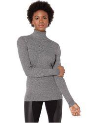 Lauren by Ralph Lauren - Marled-knit Turtleneck Sweater (polo Black/mascarpone Cream) Women's Sweater - Lyst