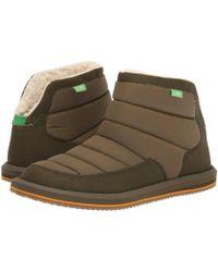 e2ccf9ef850e64 Lyst - Sanuk Soulshine Women Round Toe Suede Tan Ankle Boot