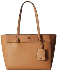Tory Burch - Robinson Small Tote (bow Blue) Tote Handbags - Lyst