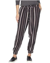 Bishop + Young - Stripe Jogger Pants (navy) Women's Casual Pants - Lyst