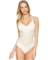 bcee5c0828 Robin Piccone - Perla V-neck One-piece (eggshell) Women s Swimsuits One