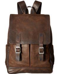 Frye - Oliver Backpack (dark Brown Smooth Pull-up) Backpack Bags - Lyst