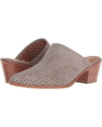 Trask - Teresa Perf (taupe Italian Kid Suede) Women's Slip On Shoes - Lyst