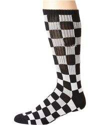 Vans - Checkerboard 1 Pack Socks In Black Vn0a3h3ohu01 - Lyst