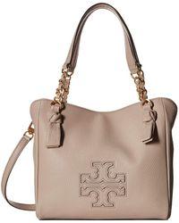 0a715dd4e218 Tory Burch - Harper Small Satchel (bedrock) Satchel Handbags - Lyst