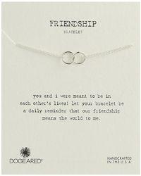 Dogeared - Friendship Double Linked Rings Chain Bracelet - Lyst