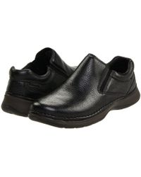 Hush Puppies - Lunar Ii (black Leather) Men's Slip On Shoes - Lyst