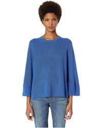 Eileen Fisher - Crew Neck 3/4 Sleeve Box-top (verbena) Women's Sweater - Lyst