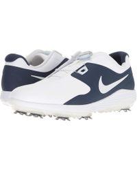 Nike - Vapor Pro Boa (white/metallic White/midnight Navy/volt) Men's Golf Shoes - Lyst